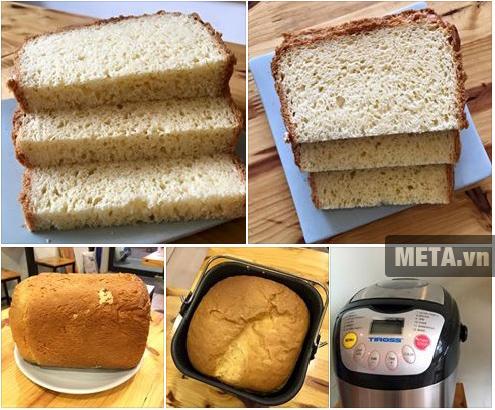 Máy làm bánh mỳ 12 chức năng Tiross TS-821 giúp bạn làm bánh mì sandwich cực ngon.
