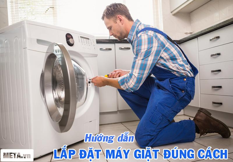 Hướng dẫn lắp đặt máy giặt Electrolux đúng cách