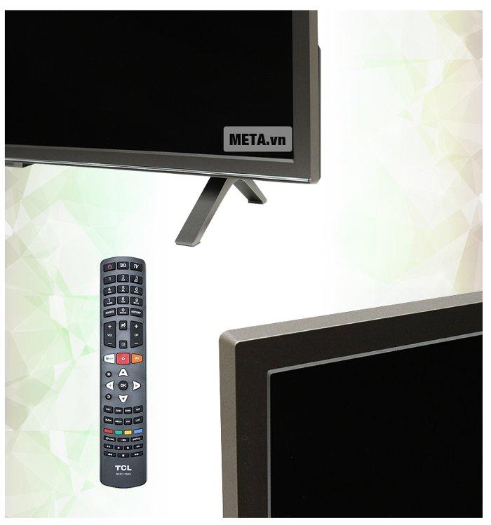 Thiết kế góc, cạnh, và điều khiển của tivi.