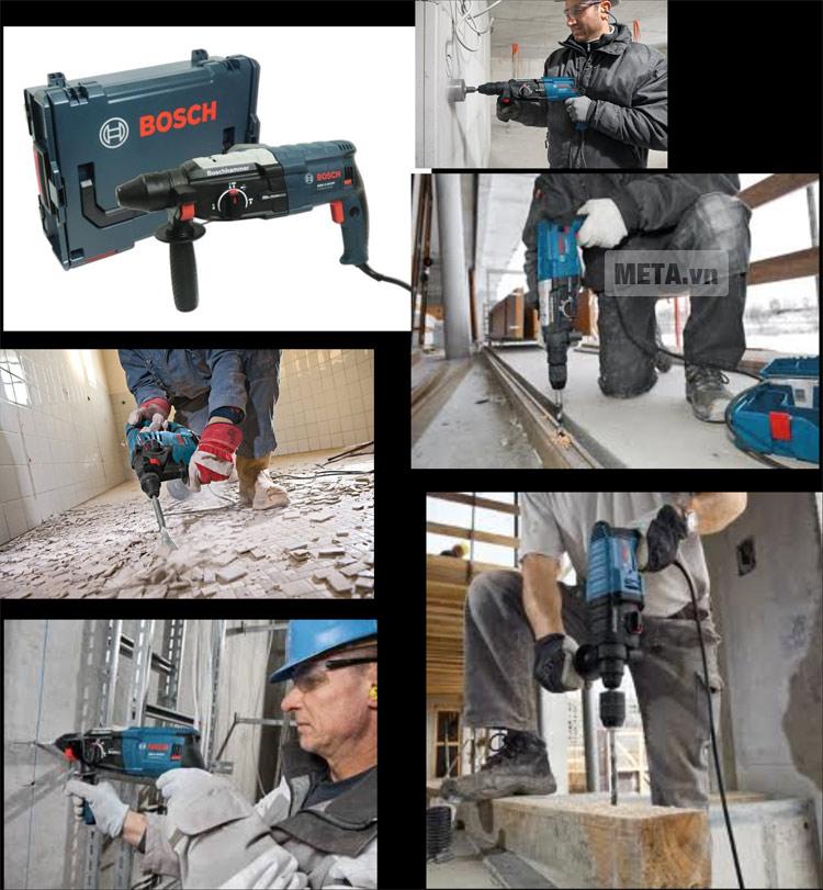 Máy khoan búa Bosch GBH 2-28 DV có thể sử dụng để khoan xuyên