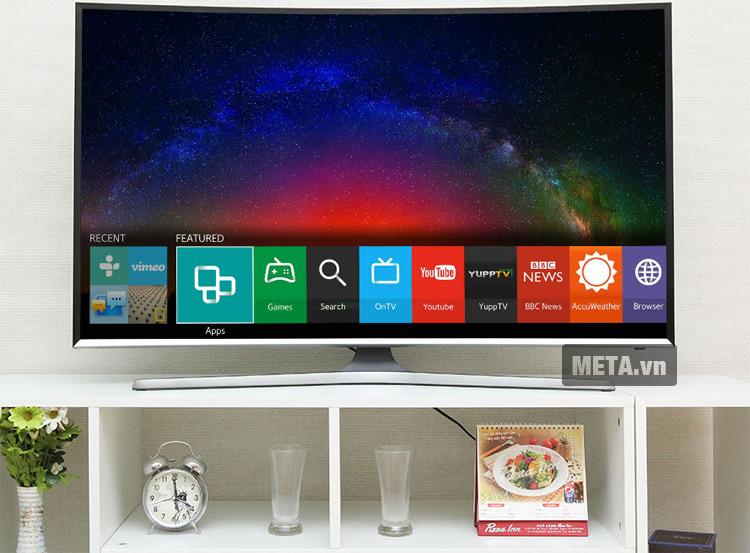 Tivi màn hình cong Samsung 48 inch Full HD UA48J6300 với giao diện internet thân thiện.