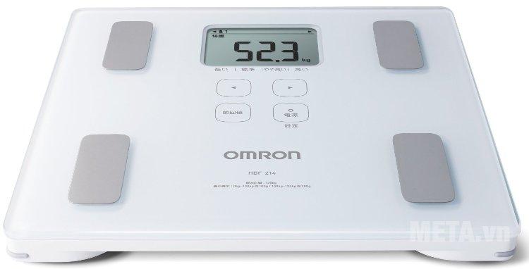 Cân đo lượng mỡ cơ thể Omron HBF-214 được sản xuất trên dây chuyền công nghệ hiện đại