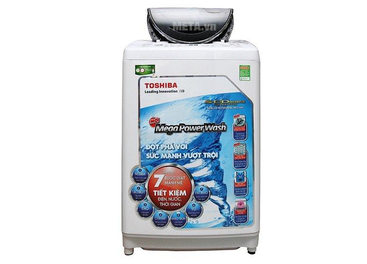 Máy giặt có dung tích lớn, phù hợp với gia đình nhiều thành viên.