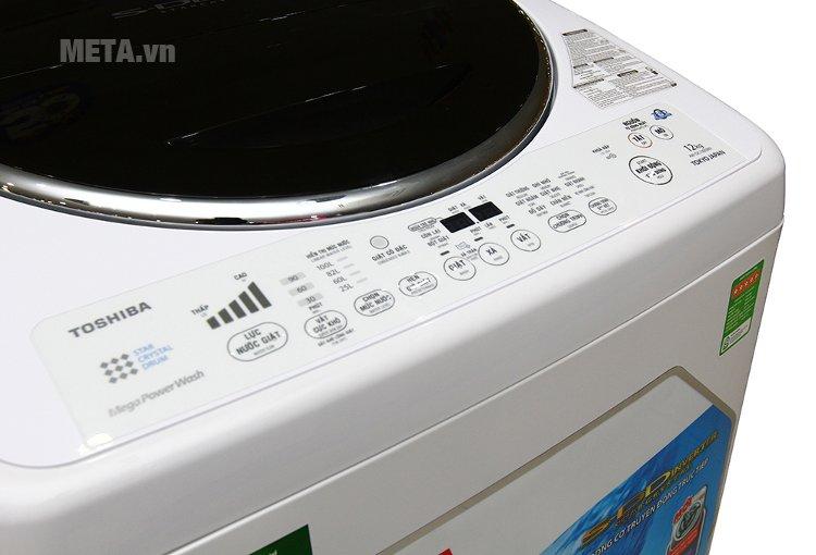 Bảng điều khiển các chương trình giặt.