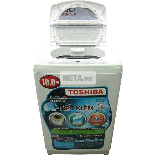 Máy giặt cửa trên 10 kg Toshiba B1100GV tiết kiệm điện đáng kể.