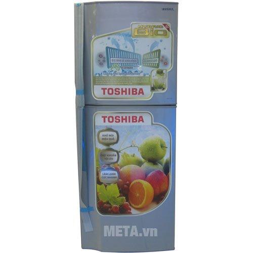 Tủ lạnh 171 lít Toshiba S19VPP(S) thiết kế nhỏ gọn, sang trọng.