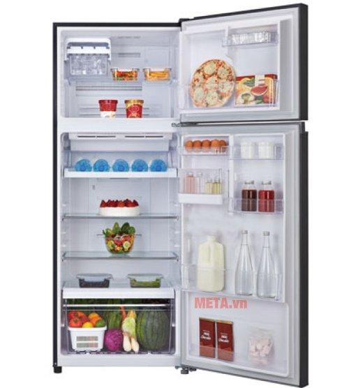 Tủ lạnh 359 lít Toshiba TG41VPDZ(XK) có không gian dự trữ thực phẩm lớn.
