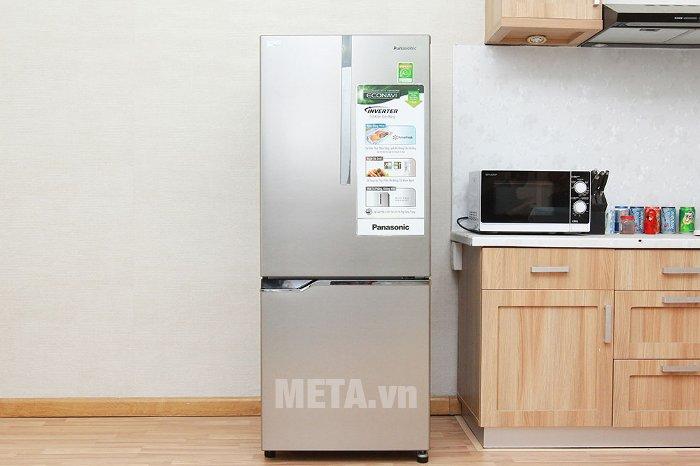 Tủ lạnh 255 lít Panasonic NR-BV288XSVN ứng dụng hệ thống làm lạnh Panorama tiên tiến.