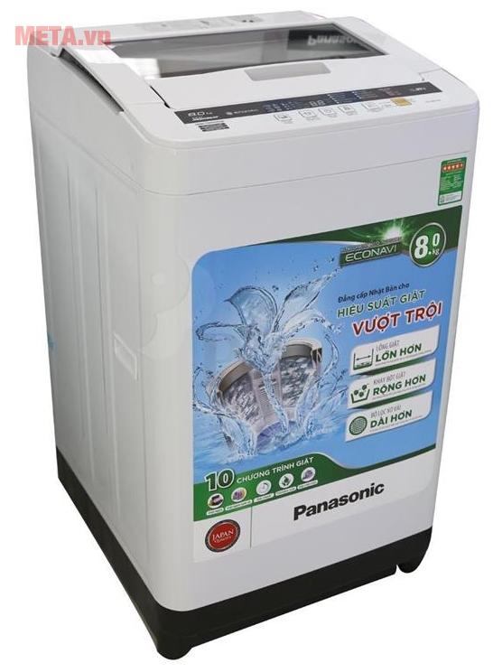 Máy giặt cửa trên 8kg Panasonic NA-F80VG8WRV phù hợp với mọi không gian.