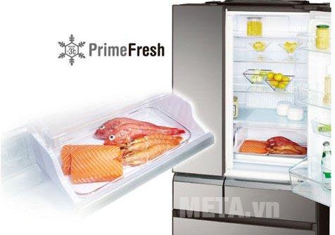 Tủ lạnh 489 lít Panasonic NR-F510GT-X2 được trang bị công nghệ cấp đông mềm thực phẩm ở -3 độ C.