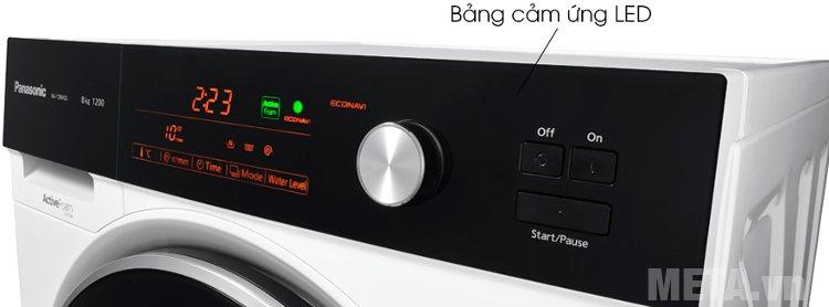 Bảng điều khiển cảm ứng của máy giặt cửa ngang 8 kg Panasonic NA-128VG5WVT