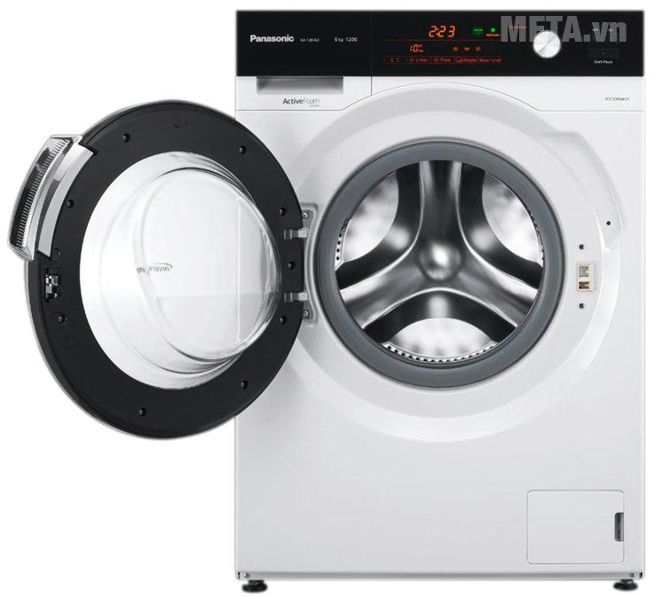 Máy giặt cửa ngang 8 kg Panasonic NA-128VG5WVT thiết kế của trước, dễ dàng sử dụng
