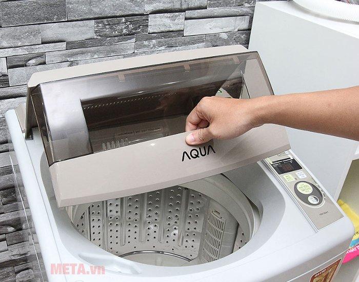Máy giặt cửa trên AQUA 8kg AQW-S80KT với thiết kế lồng giặt rộng