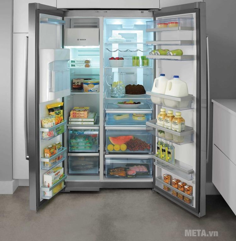 Đèn sáng nhưng tủ lạnh không hoạt động.