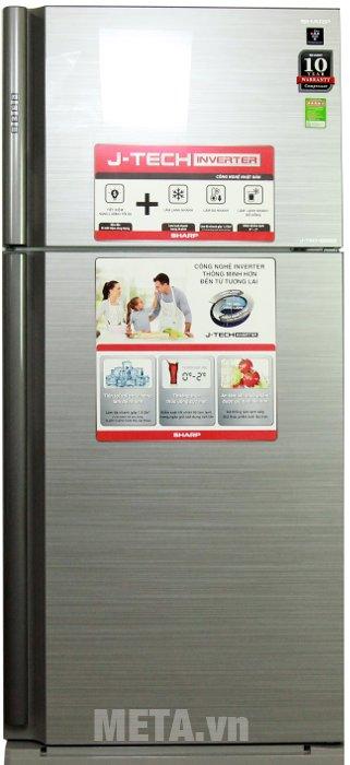 Hình ảnh tủ lạnh 585 lít Sharp SJ-XP590PG-SL