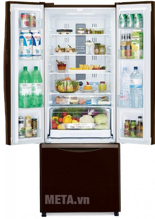 Tủ lạnh 455 lít Hitachi WB545PGV2 có hệ thống khay kệ linh hoạt