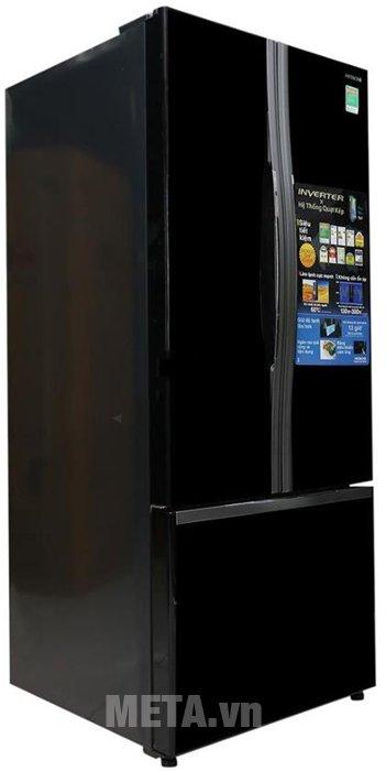 Tủ lạnh 455 lít Hitachi WB545PGV2 có thiết kế tay nắm gợn sóng