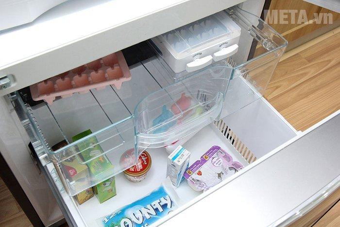 Tủ lạnh 405 lít Hitachi WB475PGV2 thiết kế ngăn đá dưới tiện lợi