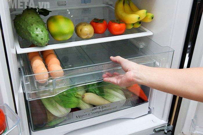 Tủ lạnh 405 lít Hitachi WB475PGV2 có hệ thống khay kệ linh hoạt