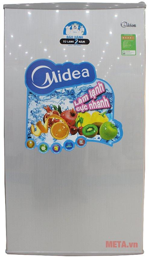 Tủ lạnh mini Midea HS-122LN có dung tích 93 lít.