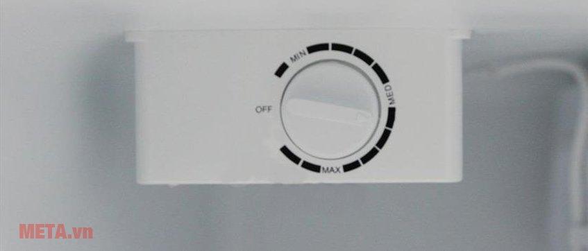 Tủ lạnh mini 68lít Midea HS-90LN có 3 mức điều chỉnh nhiệt độ.