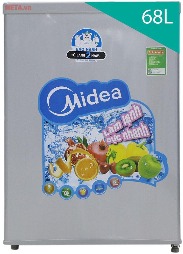 Hình ảnh tủ lạnh mini 68lít Midea HS-90LN
