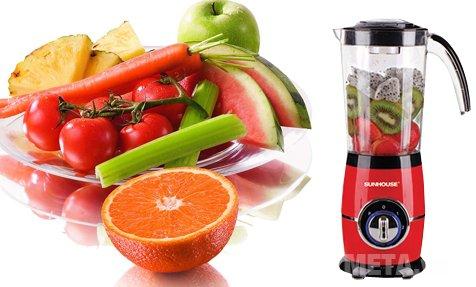 Máy xay đa năng Sunhouse SHD5329 giúp bạn chế biến hoa quả một cách dễ dàng