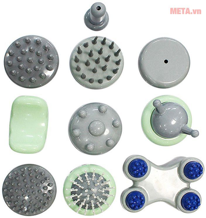 Máy massage cầm tay Buheung MK-310 kết hợp 11 đầu massage tùy chỉnh khác nhau.