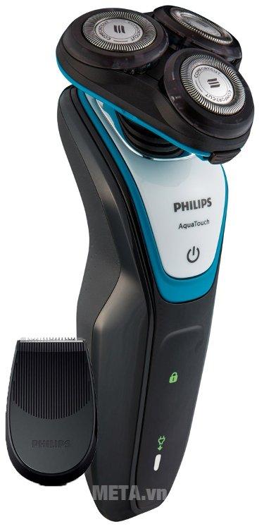 Máy cạo râu Philips S5070 màu đen xanh