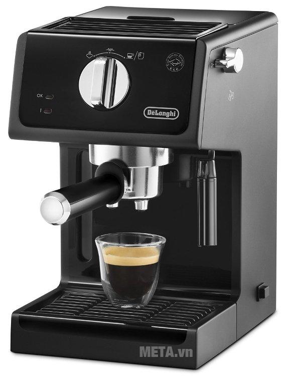 Máy pha cà phê Delonghi ECP31.21 sẽ tự động tắt nếu 9 phút không sử dụng