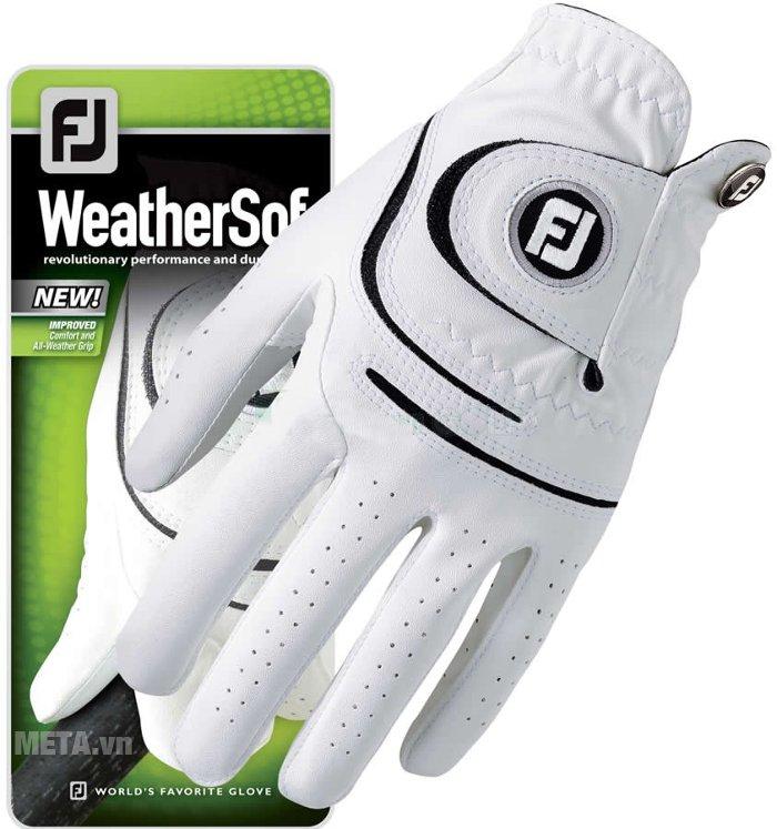 Găng tay Golf nam FootJoy WeatherSof MLH Asian HD 66298E thiết kế trên các ngón tay có nhiều lỗ nhỏ nhằm tạo sự thông thoáng cho bàn tay.