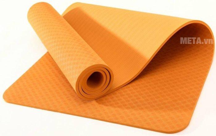 Hình ảnh thảm Yoga TPE 8 ly màu cam
