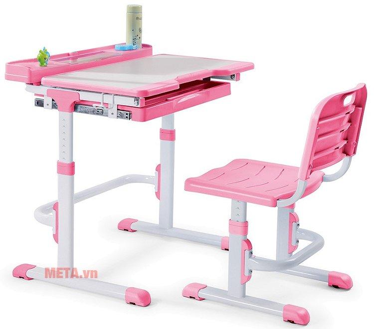 Bộ bàn học thông minh Best Desk Sprite - Hồng có thể điều chỉnh độ cao thấp khác nhau