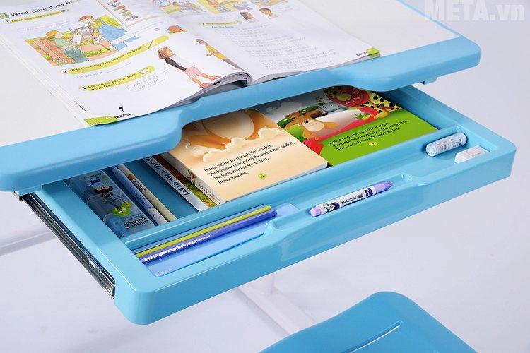 Bộ bàn học thông minh Best Desk Sprite - Xanh da trời được thiết kế thêm ngăn kéo đựng sách vở tiện lợi