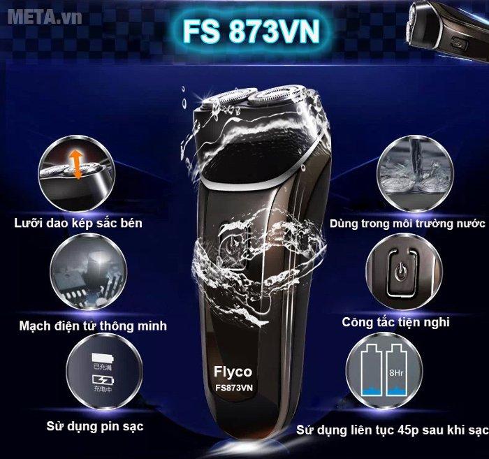 Máy cạo râu Flyco FS-873VN dùng pin sạc