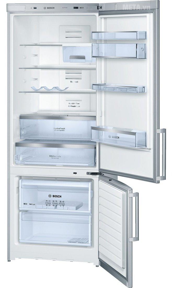 Tủ lạnh Bosch KGN57AI10T có hệ thống khay kệ ngăn nắp, tiện lợi sử dụng