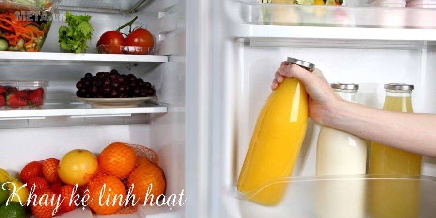 Tủ lạnh Inverter 260 lít Electrolux EME2600MG có khay kệ linh hoạt