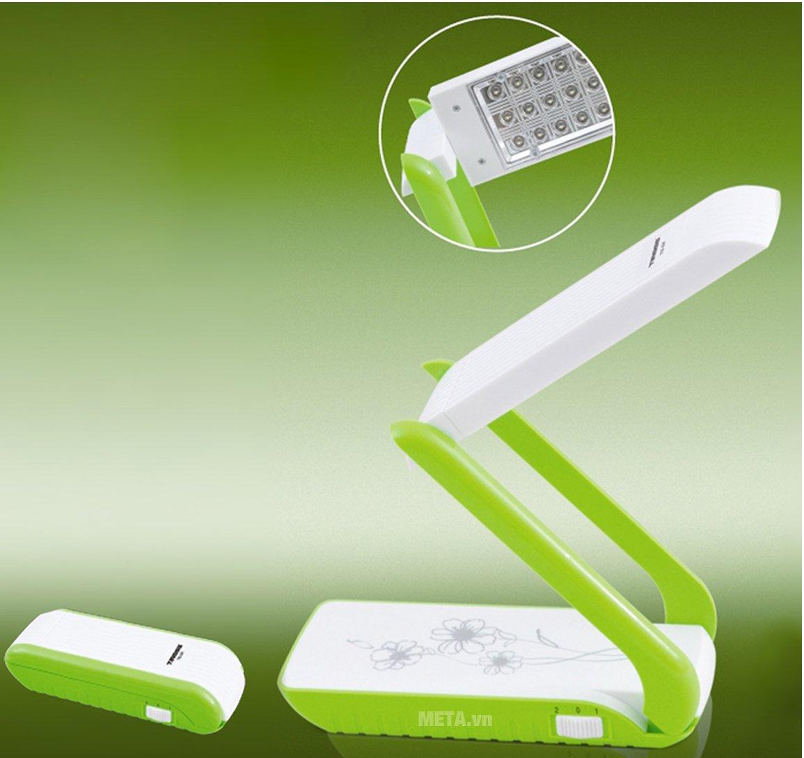 Đèn bàn sạc điện xách tay TS-52 được thiết kế vô cùng tiện lợi