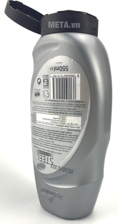 Chất tẩy rửa kim loại Astonish Pro Steel 550ml không gây hại cho da tay