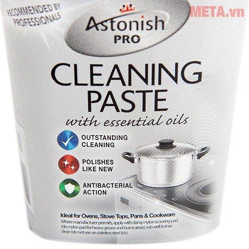 Chất tẩy rửa mặt bếp chuyên nghiệp Astonish 500g hỗ trợ loại bỏ gỉ sét