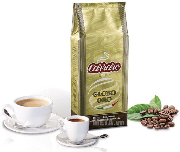Cà phê hạt Carraro Globo Oro cho những ly cà phê thơm ngon, đậm đà