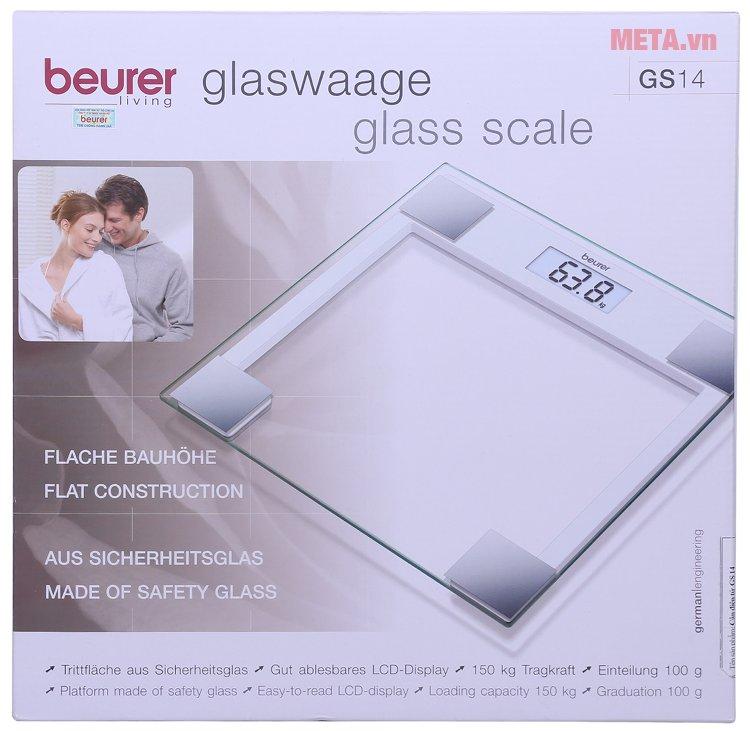 Hộp của cân sức khỏe mặt kính Beurer GS14