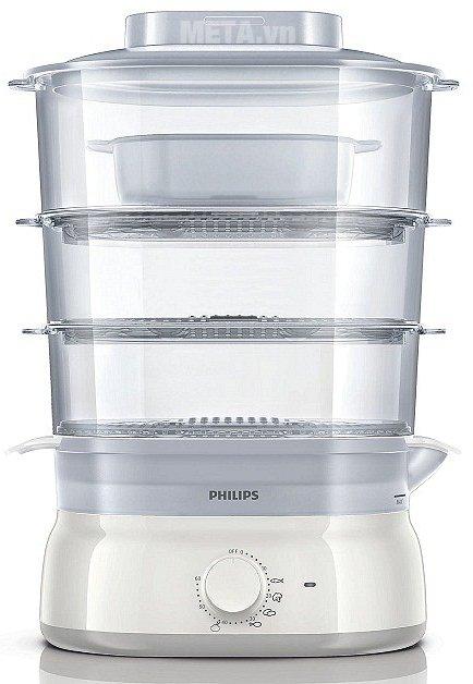 Nồi hấp Philips HD9125 giúp bạn hấp được nhiều loại thực phẩm khác nhau như: rau, củ, cá, thịt...