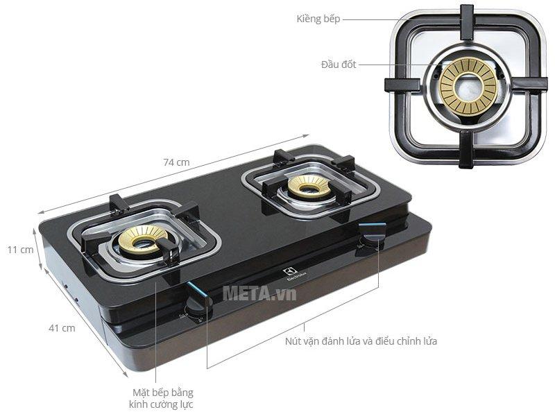 Cấu tạo bếp ga dương Electrolux ETG726GKR