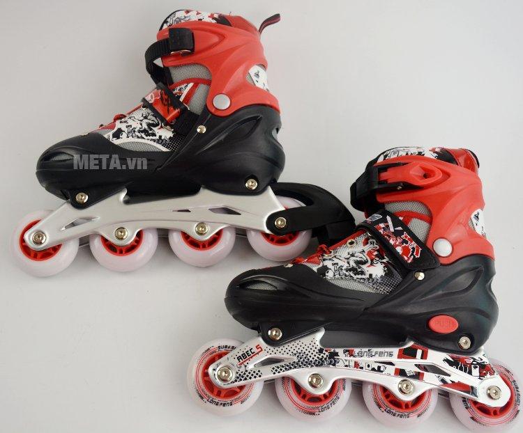 Giầy trượt Patin Long Feng 906 màu đỏ cá tính