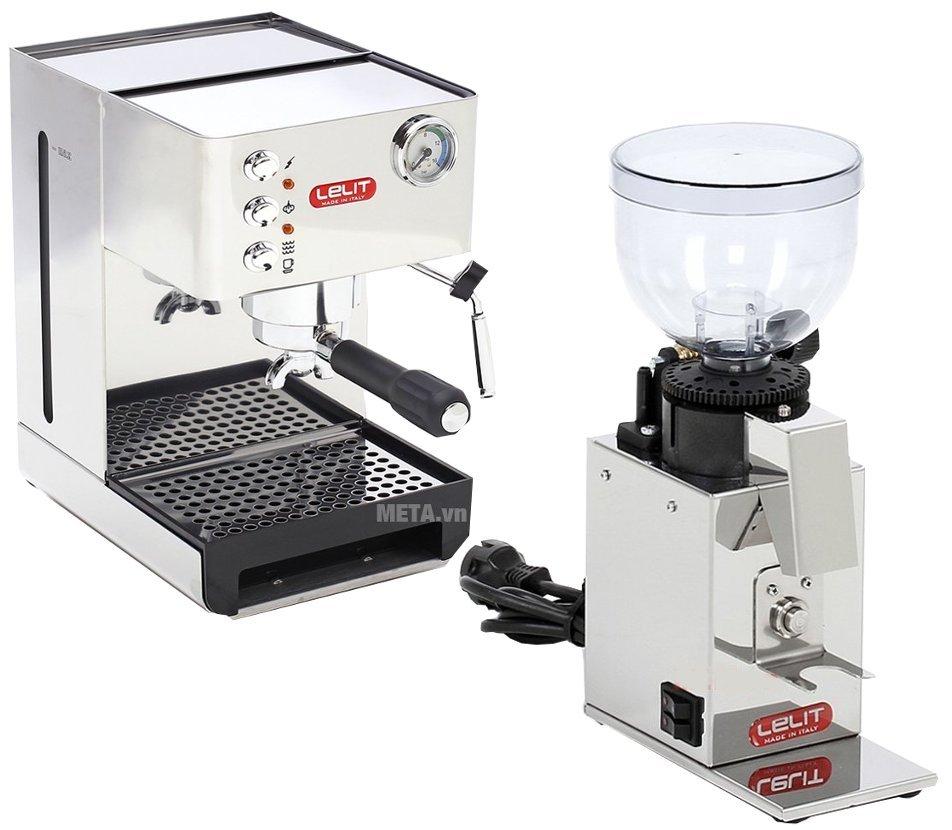 Hình ảnh combo máy xay và pha cà phê Lelit PL41EM và PL043MMI