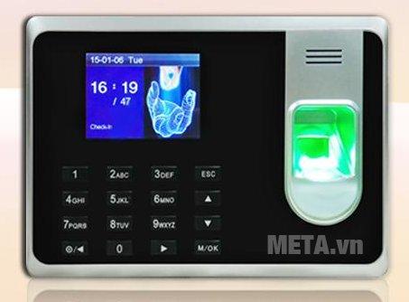 Máy chấm công vân tay và thẻ GIGATA T8 có thiết kế hiện đại