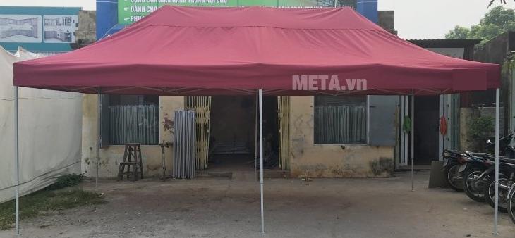 Nhà bạt di động 3m x 6m màu đỏ đô