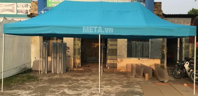 Hình ảnh nhà bạt di động 3m x 6m màu xanh dương