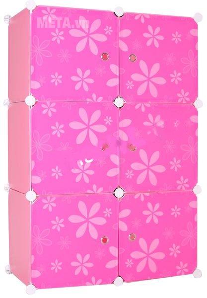 Tủ nhựa lắp ghép 6 ngăn Thanh Long TN01 màu hồng